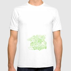 Monsters Mens Fitted Tee MEDIUM White