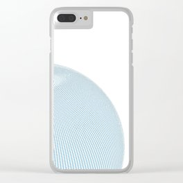 Wire Globe Half White No Back Clear iPhone Case