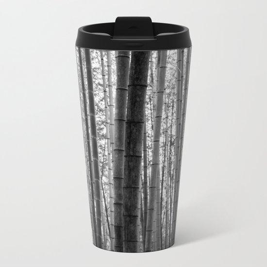 Bamboo Monochrome Metal Travel Mug