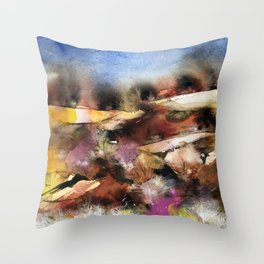 Abstract Tuscan Landscape Throw Pillow