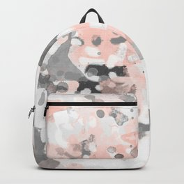 grey and millennial pink abstract painting trendy canvas art decor minimalist Backpack