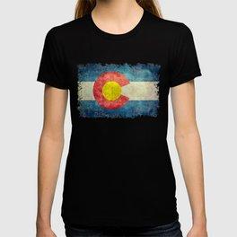 Colorado State flag - Vintage retro style T-shirt