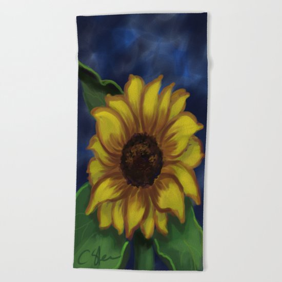 Dramatic Sunflower DP141118a Beach Towel