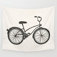 bicycle Wall Tapestries featuring Bicycle by Alisa Galitsyna