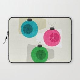 Retro Holiday Baubles Laptop Sleeve
