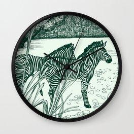 ZEBRA: GREEN Wall Clock