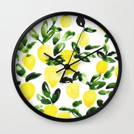 Summer Lemons Wall Clock