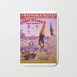 Vintage Coney Island Water Carnival Bath Mat