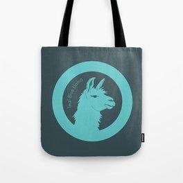 Teal-Blue Llama Tote Bag