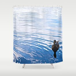 Duck in the Water - The Peace Collection Shower Curtain