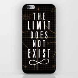 The Limit Does Not Exist iPhone Skin