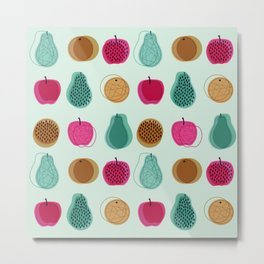 Fruity Lines Metal Print