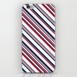 Red and Blue Stripes iPhone Skin