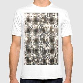 Silver Metallic Glitter sequins T-shirt