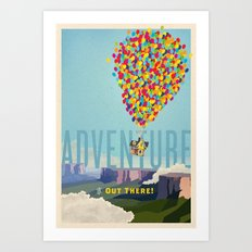 UP - Adventure Is Out There! Art Print