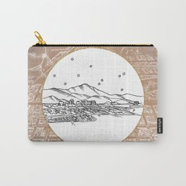 Colorado Springs, Colorado City Skyline Illustration Drawing Carry-All Pouch