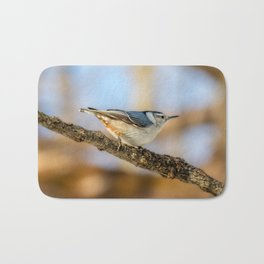 White breasted Nuthatch Bath Mat
