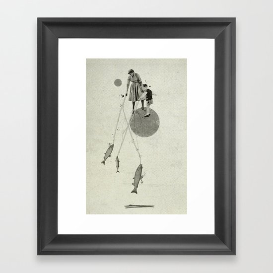 April | Collage Framed Art Print