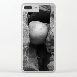 Rock Between Two Hard Places Clear iPhone Case