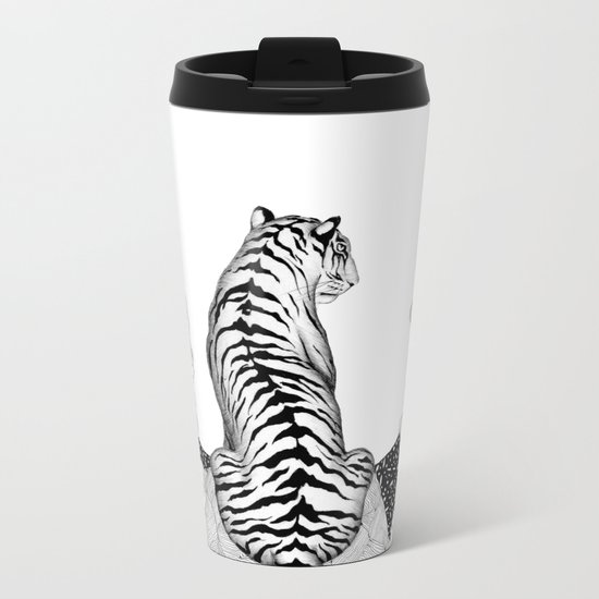Tiger Moon Metal Travel Mug