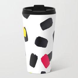 Brushstrokes in Color Travel Mug