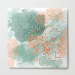 Floaty flowers Metal Print