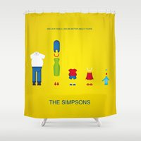 simpsons Shower Curtains featuring Simpsons by Jana Costa
