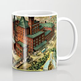 Vintage 1882 Julius Winkelmeyer Brewery St. Louis Lithograph Wall Art Advertisement Art Print Coffee Mug