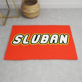 SLUBAN in Brick Font Logo Design by Chillee Wilson Rug