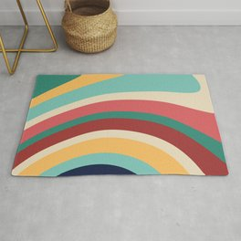 Retro Art, Colourful Prints, Geometric Art Rug