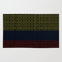 colombia Area & Throw Rugs featuring digital Flag (Colombia) by seb mcnulty
