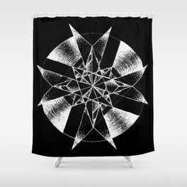 Inverted Crystalline Compass Shower Curtain