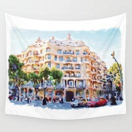 La Pedrera Barcelona Wall Tapestry