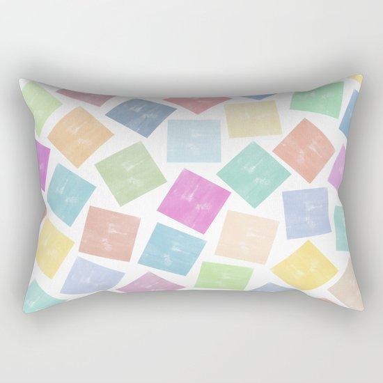 Colorful Geometric Patterns II Rectangular Pillow