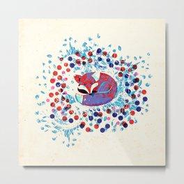 Berry fox - nostalgic Metal Print