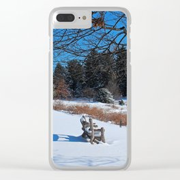Sheltered Peace Clear iPhone Case