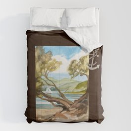 Summer At Coopers Beach Comforters