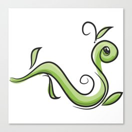 GreenWorm Canvas Print