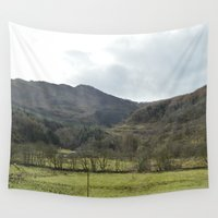 scotland Wall Tapestries featuring Scotland Countryside by Ashley Callan