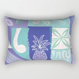 Samoan Tapa Design Rectangular Pillow