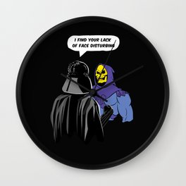 Vader Skeletor I Find your lack of face disturbing  Wall Clock