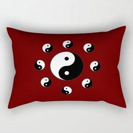 Yin and Yang 20- Tao,Zen,Taoism,Dao,Harmony,religion,buddhism,buddhist,taijitu,taiji,taoist,china Rectangular Pillow