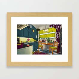 Cozy kitchen Framed Art Print
