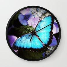 Morpho Bleu Wall Clock