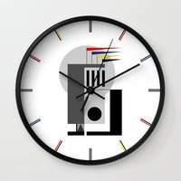 bauhaus Wall Clocks featuring BAUHAUS DREAMING by THE USUAL DESIGNERS