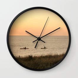 Kayakers Wall Clock