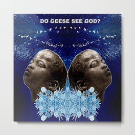 DO GEESE SEE GOD? Metal Print