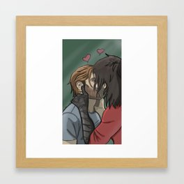 Can't leave you alone for a second Framed Art Print