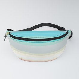 On the beach, Mexican inspired, striped pattern, pastel colors. Fanny Pack