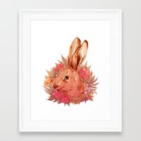 hare Framed Art Prints featuring Hare by batcii